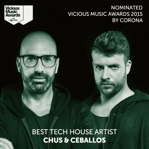 Chus ceballos nominated for three vicious music awards for Best tech house music